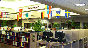 Fairport High School - Fairport High School library includes a large selection of books and computers for research