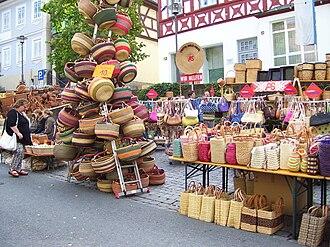 Lichtenfels, Bavaria - Image: Lichtenfels Korbmarkt baskets
