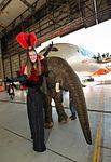 Lifelike baby elephant with her handler (14108253060).jpg