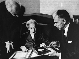 Otto Robert Frisch - Otto Frisch, Lise Meitner, and Glenn Seaborg