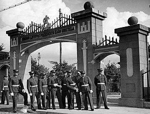 Romualdas Marcinkus - Gates of the Kaunas Military School. Marcinkus graduated from here in 1928