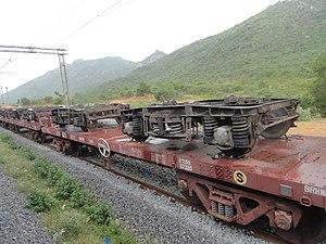 Load of railway weels.JPG