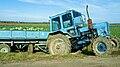 Loaded tractor in Belarus.jpg