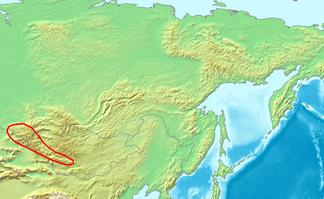 Lage des Altai-Gebirges