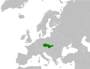 Czech and Slovak Federative Republic - Image: Location Czech and Slovak Federal Republic (1992 1993) in Europe