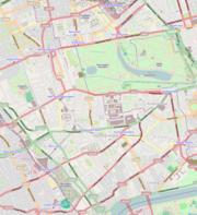 Location map Kensington