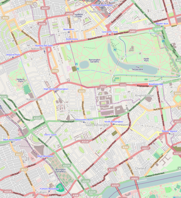 Location map United Kingdom London Kensington