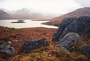 Loch Quoich - Looking south west to Sgurr Mòr in the distance