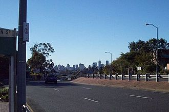 Greenslopes, Queensland - Brisbane Central Business District viewed from Logan Road, Greenslopes, 2008