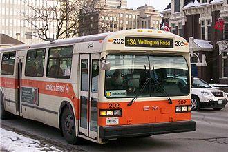 Classic (transit bus) - GM Classic operating in London, Ontario