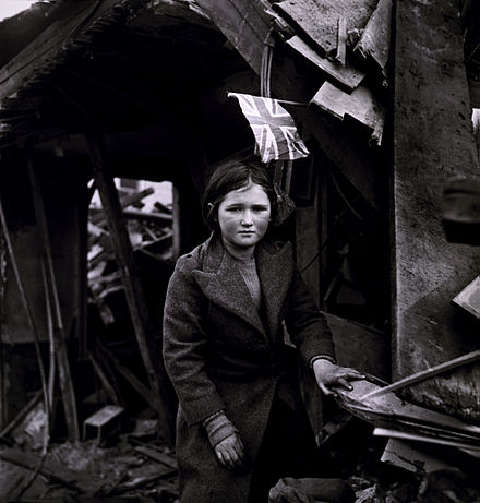 Aftermath of V-2 bombing at Battersea, London, 27 January 1945 London V2 Frissell2.jpg