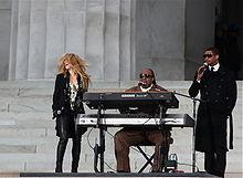 Shakira, Stevie Wonder e Usher in concerto per Obama nel gennaio 2009.