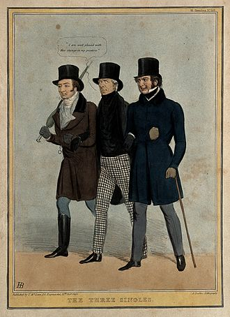David William Murray, 3rd Earl of Mansfield - The Three Singles. Caricature of Mansfield, Lord Ellenborough and Lord Brougham by John Doyle, 1838.