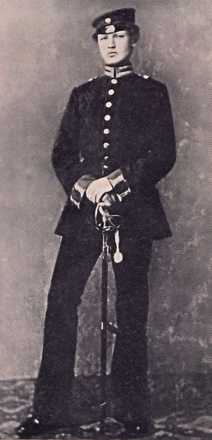 Hindenburg as a lieutenant in the 3rd Garderegiment in 1870 Lt. Hindenburg.jpg