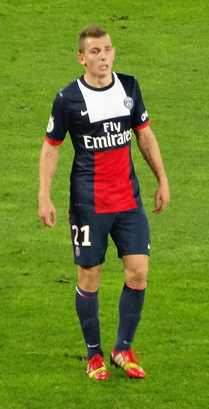 Lucas Digne - Digne playing for Paris Saint-Germain in 2013