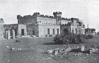 Ludlow Castle, Delhi - Ludlow Castle, which had been damaged during the Indian rebellion of 1857, being repaired after the British retook Delhi in September 1857.