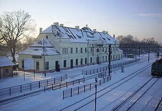 railway station in Łuków, Poland