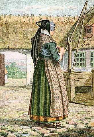 Danish folklore - Image: Lund Kone fra Haudrup