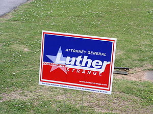 Luther Strange - Luther Strange campaign sign, 2010