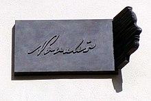 Gedenktafel an seiner Studentenunterkunft in Wittenberg (Quelle: Wikimedia)