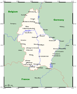 Map Of France And Luxembourg.Geography Of Luxembourg Wikipedia