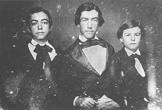 Frederick S. Lyman - Frederick Schwartz Lyman (left) with his brothers Henry Munson and David Brainerd