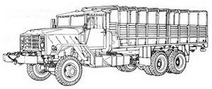M939 series 5-ton 6x6 truck - M928 Cargo truck