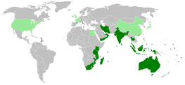 Map of IORA countries.
