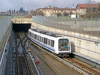 Transport in Italy - AnsaldoBreda train for the Brescia Metro.