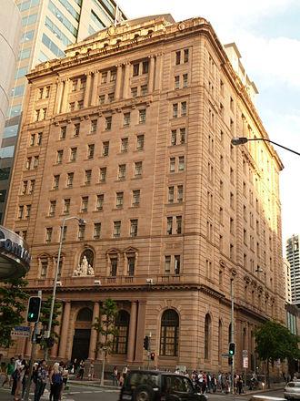 MacArthur Central - MacArthur Chambers, Queen Street and Edward Street facades