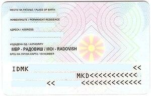 Macedonian Identity Card Wikipedia