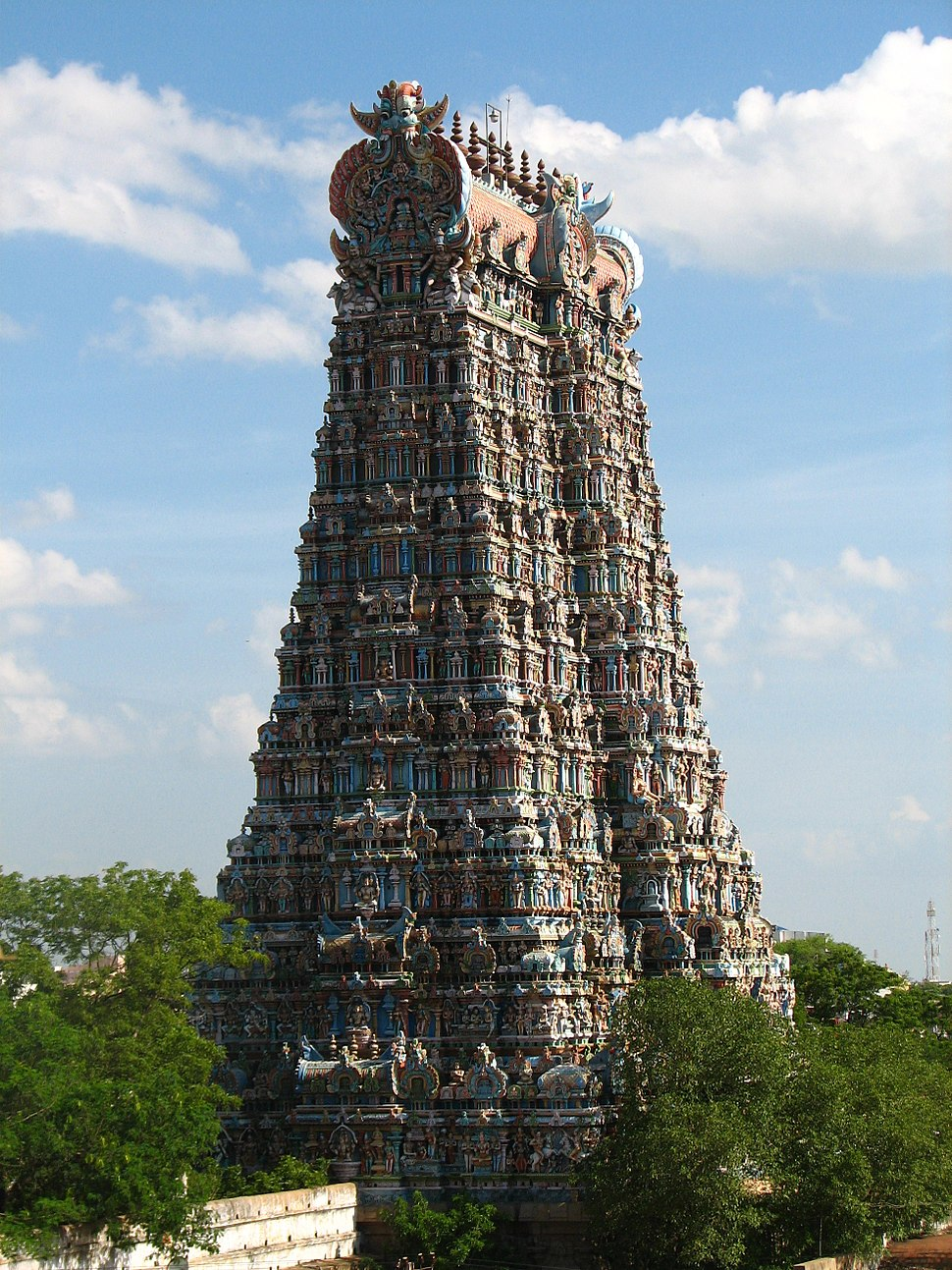 Madurai Meenakshi temple gopuram