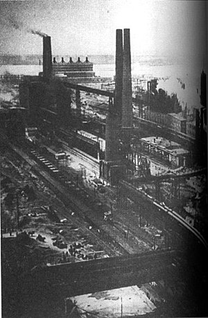 Ural economic region - Magnitogorsk Iron and Steel Works in the 1920s-30s.