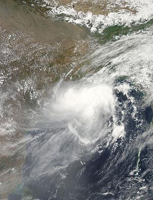 Cyclone Viyaru - Cyclone Viyaru as a weakening storm approaching Bangladesh, eastern India and Myanmar on May 15
