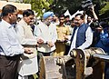 Mahesh Sharma and the Minister of State for Housing and Urban Affairs (IC), Shri Hardeep Singh Puri at the Bhoomi Poojan Ceremony of the Museum on the Prime Ministers of India, in New Delhi (2).JPG