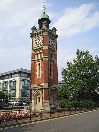 Maidenhead - Maidenhead clock tower outside the railway station