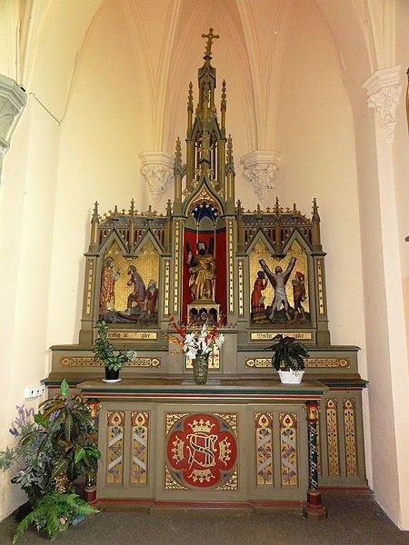 Mairieux (Nord, Fr) église, autel de St.André