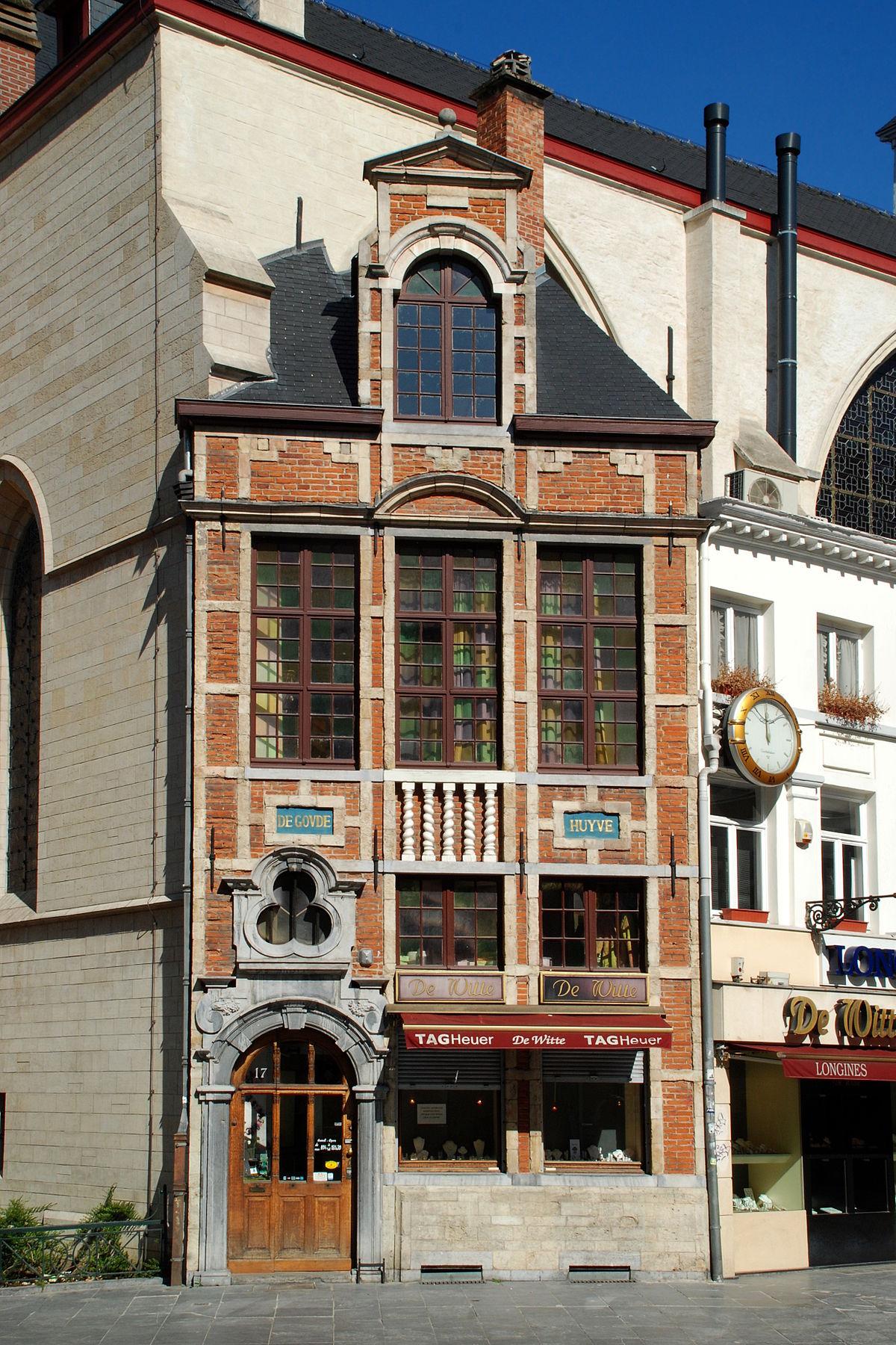 Maison de goude huyve wikip dia for Maison minimaliste belgique