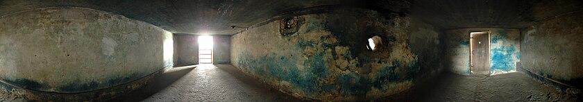 Panoramaaufnahme der Gaskammer in Majdanek