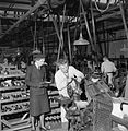 Making Shoes For the Wrens- the Manufacture of Footwear For the Women's Royal Naval Service at a Factory in the Midlands, England, UK, 1944 D23045.jpg