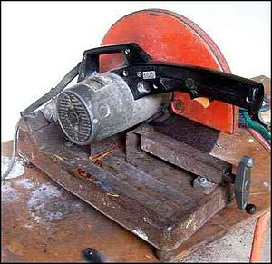 Abrasive saw - Steel cut-off saw for workshop use