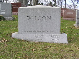 Malcolm Wilson (governor) - The grave of Malcolm Wilson in Gate of Heaven Cemetery