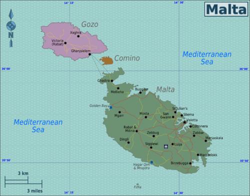 Cartina Turistica Di Malta.Malta Wikivoyage Guida Turistica Di Viaggio