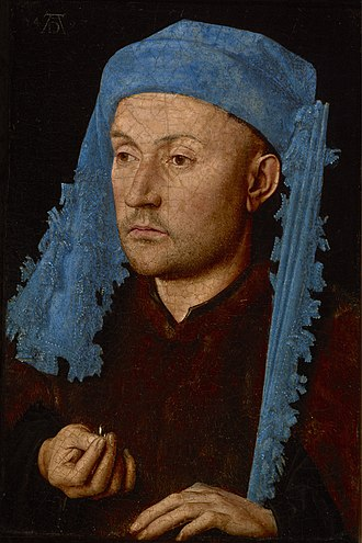 Portrait of a Man with a Blue Chaperon - Image: Man in a Blue Cap Jan van Eyck Google Cultural Institute
