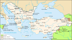 Map Byzantine Empire 1025-fr.svg