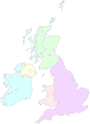 Singaporeans in the United Kingdom - Image: Map UK light colored