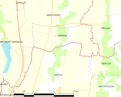 Map commune FR insee code 40290.png