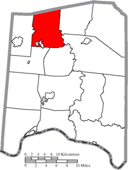 Location of Scott Township in Adams County