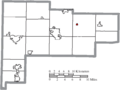Map of Auglaize County Ohio Highlighting Uniopolis Village.png