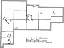 Location of Uniopolis in Auglaize County